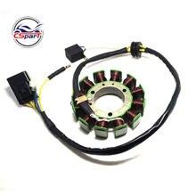 12 bobinas 6 fios 115mm magneto stator enrolamento para peças quad kazuma xinyang jaguar 500 500cc atv