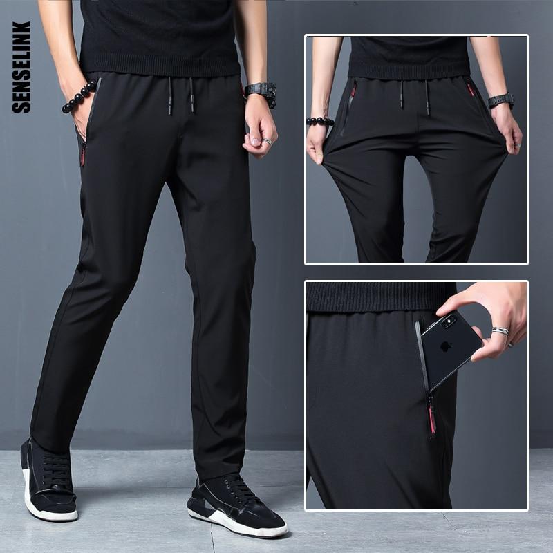 2021 New Men Pants Joggers Fitness Casual Quick Dry Outdoor Sweatpants Breathable Slim Elasticity Trouser Plus Size Men Pants 1