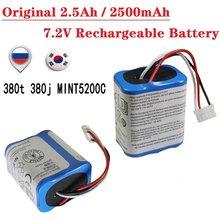 Oryginalny akumulator 2.5Ah / 2500 mAh 7.2V do iRobot Roomba Braava 380 380T Mint 5200 5200c NiMH 2500 mAh 7.2v bateria