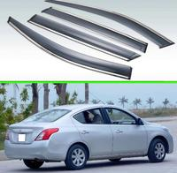 For NISSNA Sunny Latio Versa N17 2011 2012 2013 2019 Plastic Exterior Visor Vent Shades Window Sun Rain Guard Deflector 4pcs
