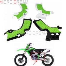 Motocross Dirt Bike Enduro osłony ochronne na ramę dla Kawasaki KXF250 KX250F KX250 KXF KX 250 zielone osłony na ramę