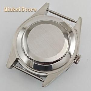 Image 5 - Parnis 41mm szafirowe szkło srebrny zegarek case fit ETA 2836, Miyota 8205 8215 82 seria Mingzhu DG2813 3804 ruch