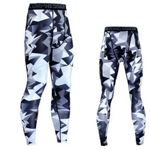 Crossfit 3D Compression Pants Running Tights Men Quick Dry Elastic Trousers Jogging Sport Leggings Mens Gym Fitness Sportswear