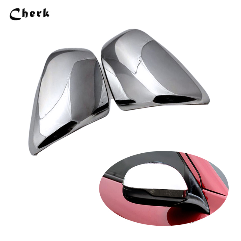 For <font><b>Honda</b></font> HR-V <font><b>HRV</b></font> 2014 2015 2016 2Pcs/Set ABS Chrome Rearview Rear <font><b>Side</b></font> <font><b>Mirror</b></font> Cover Trim Frame Sticker 2PCS/Set Accessories image