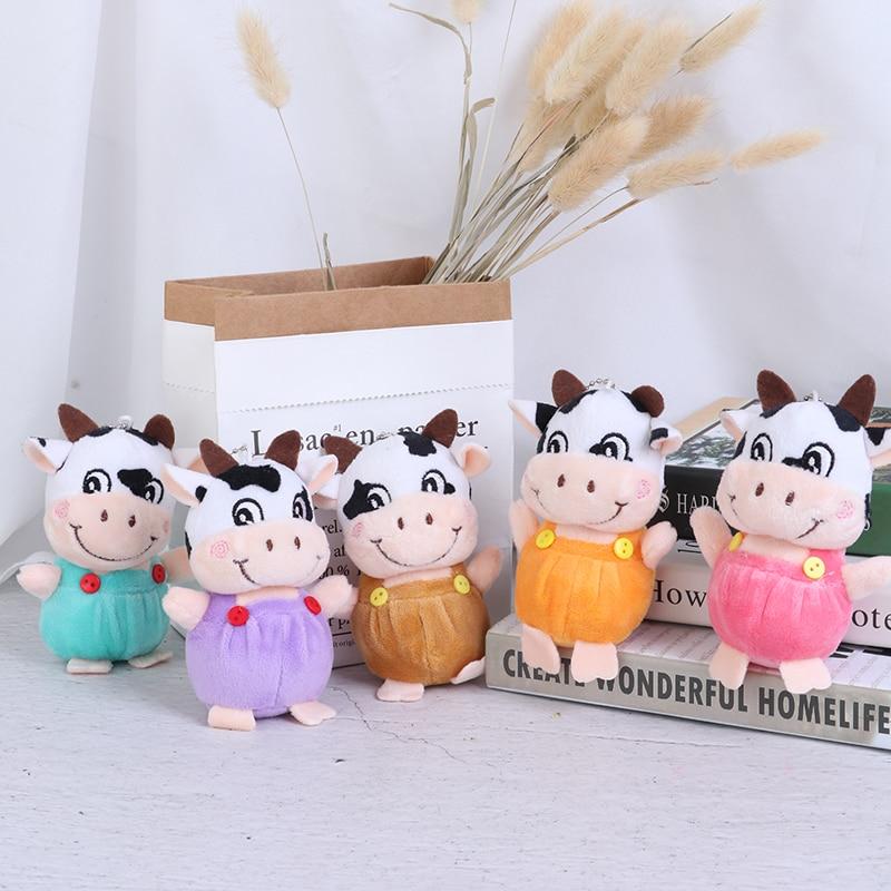 1 Pc New 10cm Little Cow Stuffed Animal Plush Toys , Key chain Plush Dolls , Kid's Plush Toys Chinese New Year-2