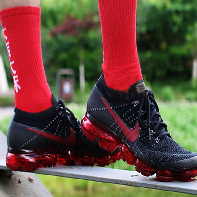 Original Nike Air VaporMax Be True Flyknit Breathable Men's Running Shoes Outdoor Sports Comfortable Durable Jogging Sneakers 5