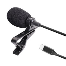 Mini Portable Clip-On Lapel Lavalier High Quality Mic Wired Microphone For DSLR Camera For Smartphone With TYPE-C Cable(China)