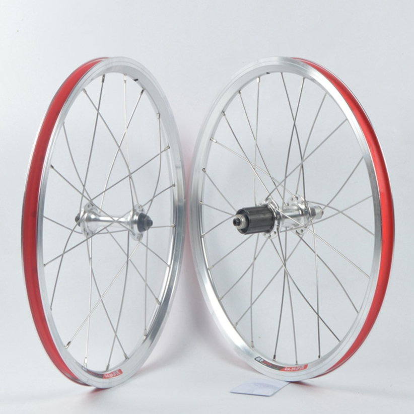 NOVATEC 2 bearing <font><b>BMX</b></font> / folding bicycle <font><b>Wheels</b></font> <font><b>20</b></font> inch / 451 P8 / SP8 bike V brake self-made <font><b>wheel</b></font> set image