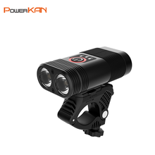 PowerKAN XPE*2PCS 5 modes LED light headlight rechargeable smart indicator for portable waterproof bicycle