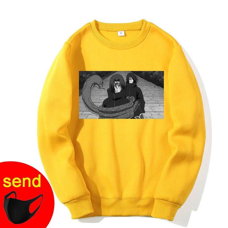Unisex Sweatshirts Naruto Harajuku Japanese Anime Uchiha Itachi Printed Men's Hoodies Male Streetwear Men Brand