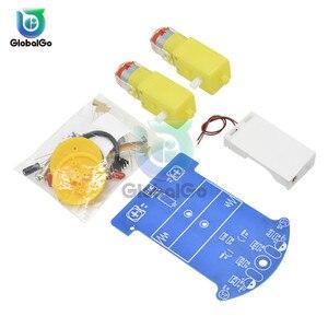 Image 3 - Kit de D2 1 de coche inteligente TT, Kit DIY electrónico de Motor, patrulla inteligente, piezas de automóvil para bebé