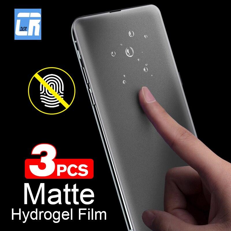 1-3PCS Keine Fingerprint Matte Hydrogel Film für Xiaomi Redmi Hinweis 9S 8 7 5 K20 Pro k30 4X GEHEN 8A Frosted Screen Protector Nicht Glas
