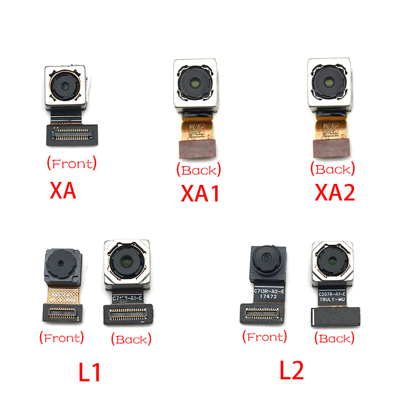 New For Sony Xperia X XA1 XA2 Ultra L1 L2 Back Rear Camera Module Flex Cable +Front Facing Camera Replacement