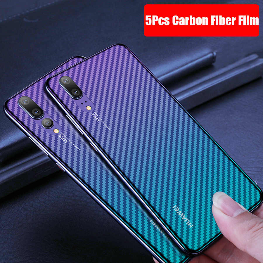 5Pcs/lot Clear 3D Carbon Fiber Soft Matte Back Screen Protector For Huawei Mate 20 P30 P20 Pro Honor View 20 20S 20 Pro 9X Film