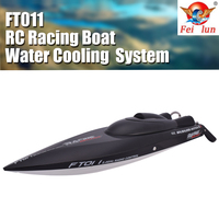 Feilun FT011 2.4G Flipped Brushless Speedboat 55km/h High Speed RC Racing Boat Water Cooling System RC Model Toy