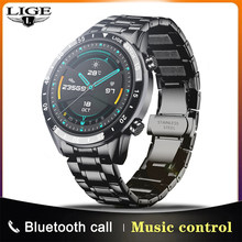 LIGE 2021 New Smart Watch Men Full Touch Screen Sports Fitness Watch IP67 Waterproof Bluetooth For Android ios smartwatch Mens