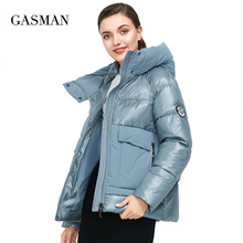 Puffer Jacket Thick Coat Hooded Women Parka Patchwork GASMAN Winter Fashion Female Warm