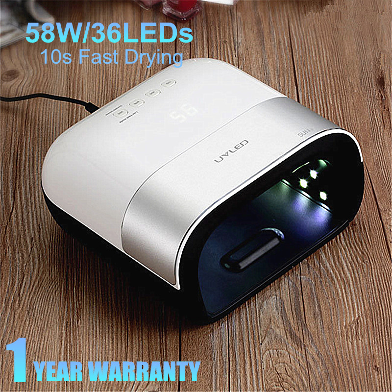 SUN3 Painless Nail Dryer UV LED Nail Lamp Manicure 58W Ice Lamp All For Nails Drying Machine LCD Display UV Gel Dry Nail Art