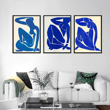 Home Decoration Print Canvas Art Wall Pictures Poster Abstract Figure Canvas Printings Paintings French Henri Matisse Blue Nude french moderns monet to matisse 1850 1950