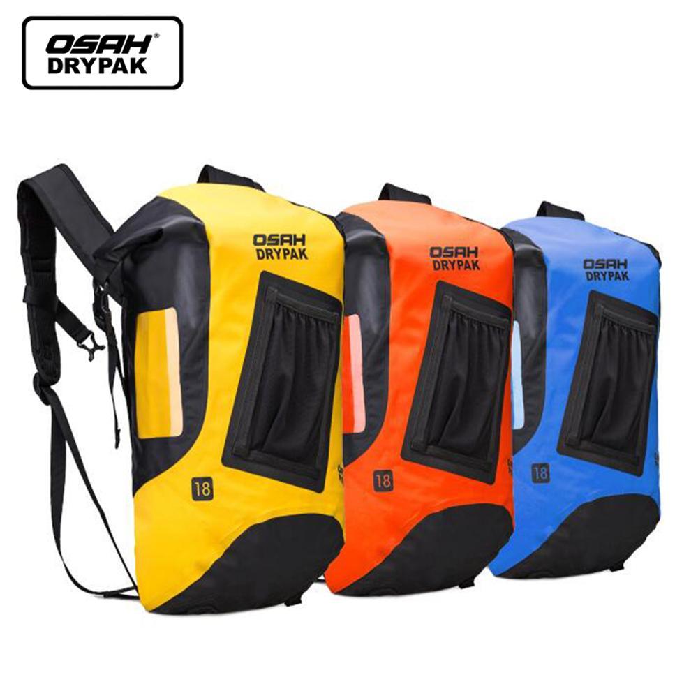 18L PVC Waterproof Drift Diving Bag Outdoor Diving Foldable Man Women Beach Swimming Bag Rafting River Ocean Backpack