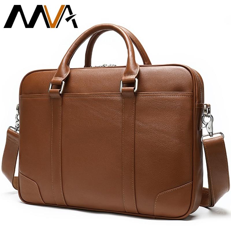 MVA Briefcases Men's Bag Gnuine Leather Laptop Bags Men Messenger Bag Leather Handbag Men Business/Office Bags For Man Maletin