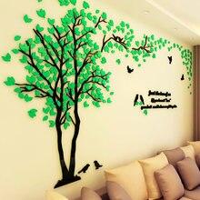 200*100 см креативный 3d стикер на стену с парой дерева акриловый
