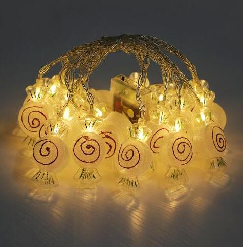 Cute LED Decoration String Light Holiday Lamp Warm White Battery Box 2m 10led