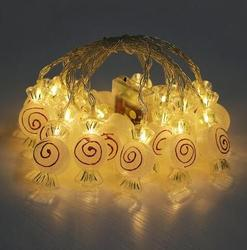 cute LED decoration string light holiday lamp warm white battery box 2m 10led