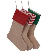 Christmas stockings 30*45cm Christmas gift bag 12pcs/dozen stocking draw string bag tree decoration socks canvas Santa stocking