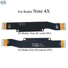 YuXi 1pc Main Motherboard LCD Display Connector Flex Ribbon Cable For Xiaomi Redmi Note 4X Mainboard(China)
