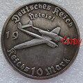 1941-1944 German 10 Mark Creative Souvenir Plated Antique Coin Collectible Coin Physical Gold Commemorative Coins Badge (Copy)