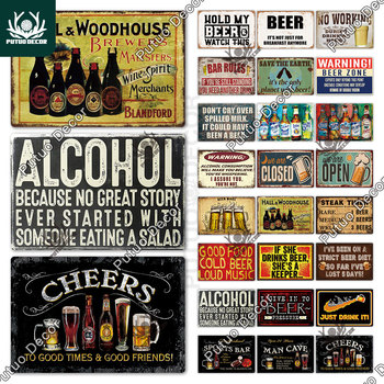 Beer Metal Sign Plaque Metal Vintage Pub FunnyTin Sign Wall Decor for Bar Pub Club Man Cave Tin Plates Vintage Metal Signs whiskey vintage metal sign tin sign plaque metal vintage retro wall decor for bar pub club man cave metal signs poster