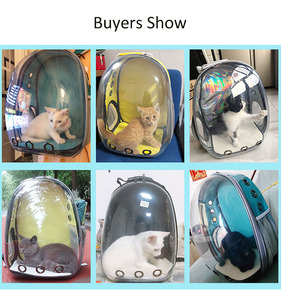 Image 2 - High Quality Astronaut Outdoor Carrying Breathable Space Capsule Travel Bag Portable Transparent Pet Carrier Cat Dog Backpack