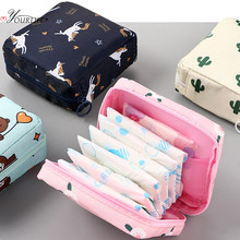 Wasserdicht Tampon Lagerung Tasche Nette Sanitär Pad Beutel Tragbare Make-Up Lippenstift Schlüssel Kopfhörer Daten Kabel Veranstalter