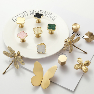 Various shape/Green Brass Round Cabinet Door Knobs and Handles Furniture Hardware/Cupboard Wardrobe Drawer Pull pink Handle