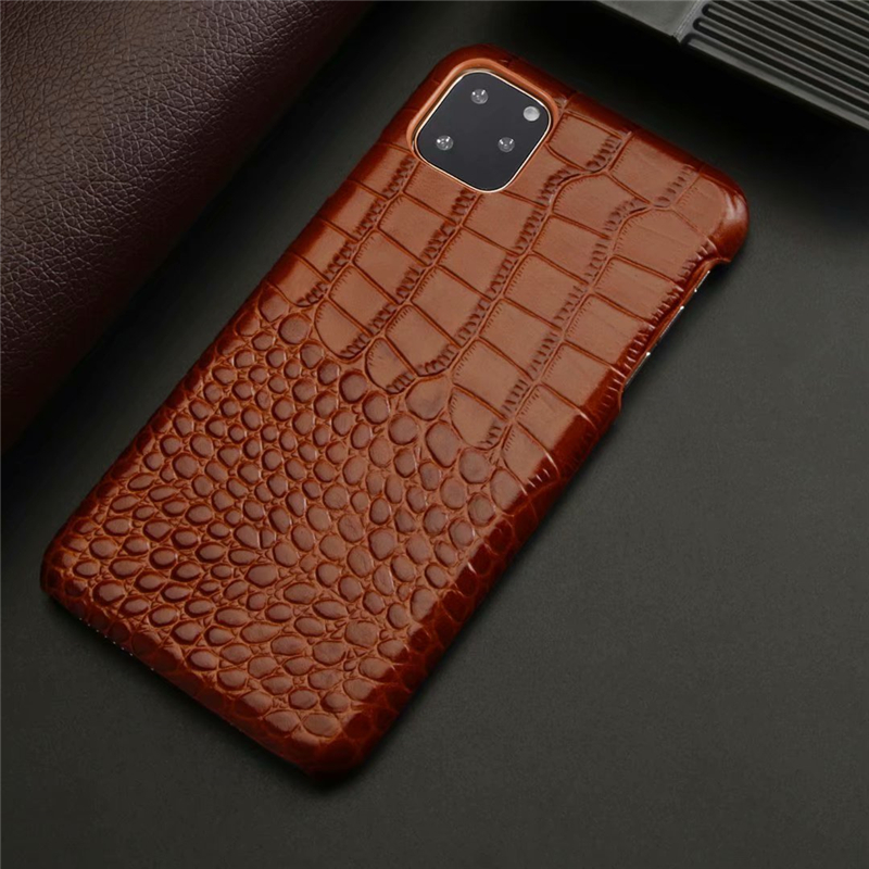 Genuine Leather Crocodile Grain Case for iPhone 11/11 Pro/11 Pro Max 9
