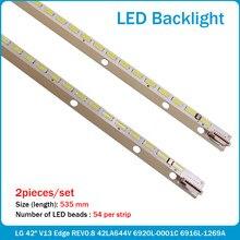 (Novo kit )10 Pçs/set 535 MILÍMETROS 42 V13 6920L-0001C tira retroiluminação LED para 6922L-0062A 6916L1166A LC420EUN SF F3 6916L1472A