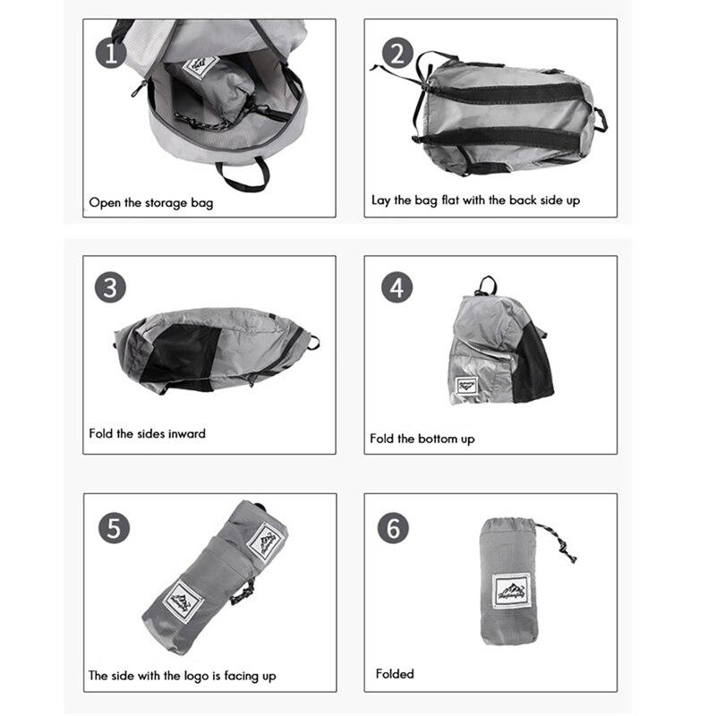 Hwjianfeng 20l portátil dobrável mochila impermeável para caminhadas de viagem