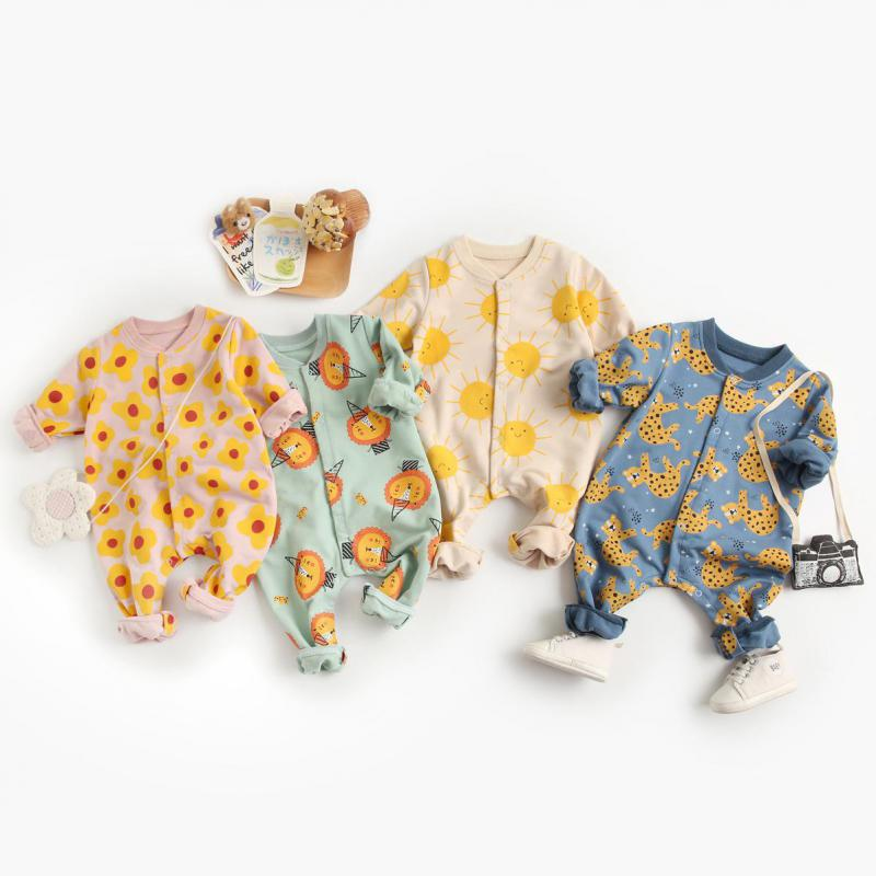 One-Pieces 2021 Baby Clothing Spring New Toddler Girls Rompers Cartoon Toddler Boys Outfit Newborn Jumpsuit Long Sleeve Fashion