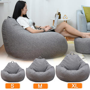 Chairs Cover Seat-Bean-Bag Filler Couch Lounger Sofas Cloth Pouf-Puff Tatami Linen Lazy