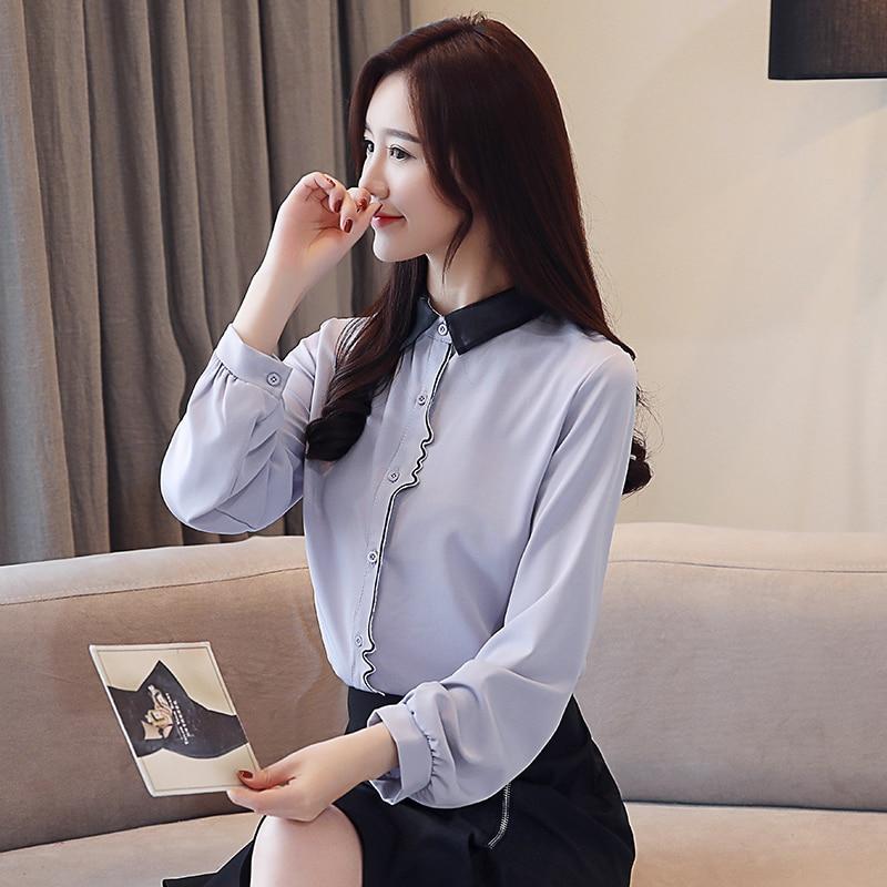 Korean Fashion Chiffon Women Blouses White Women Shirts Plus Size XXL Blusas Femininas Elegante Ladies Tops in Blouses amp Shirts from Women 39 s Clothing