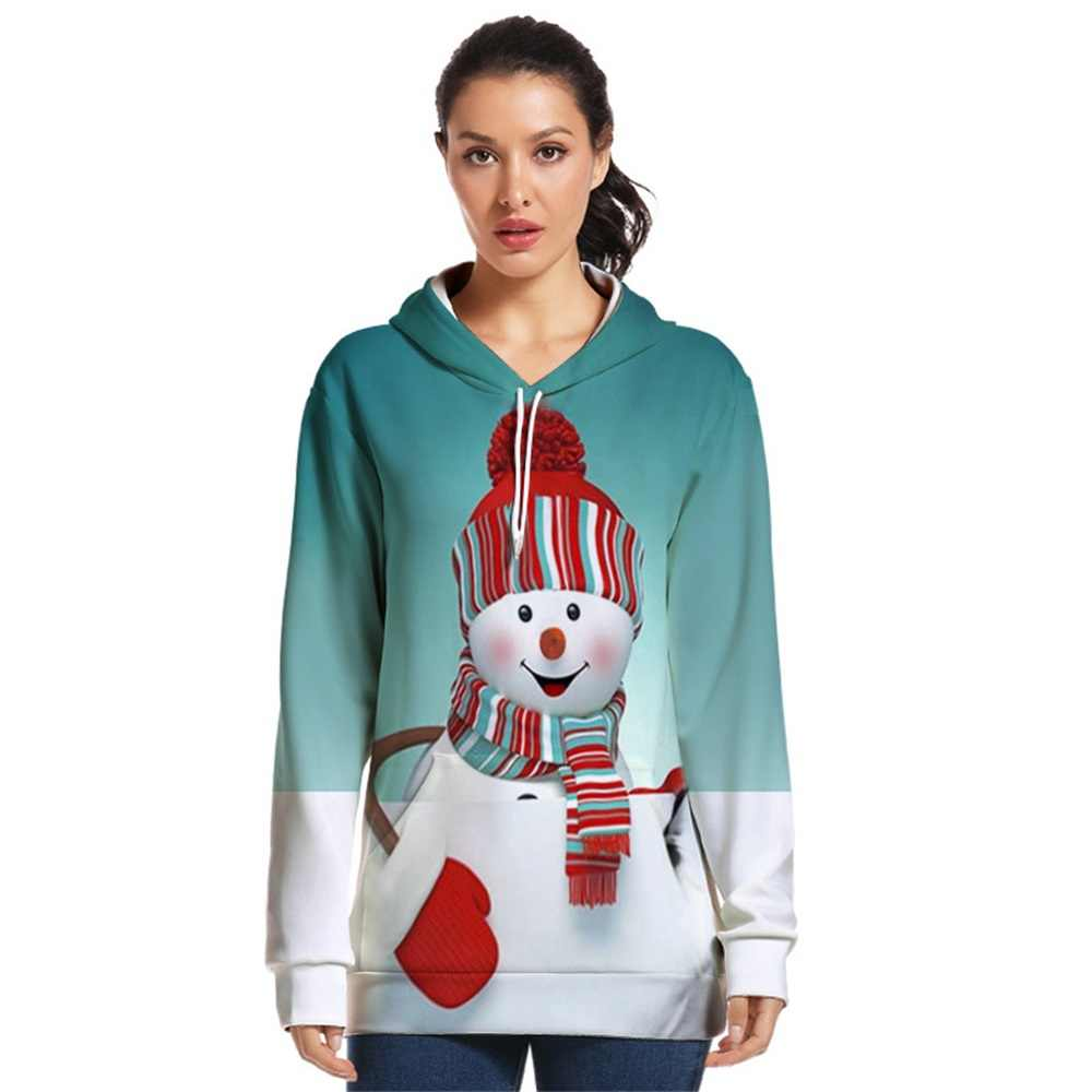 New Christmas Sweater Plus Size Snowman Pullover 3D Printing Unisex Santa Claus Sweater Christmas Novelty Ugly Couple Costume