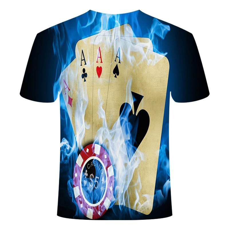 Летняя футболка с 3D принтом в виде пива, покера, для мужчин и женщин, забавная Новинка, футболка с круглым вырезом и коротким рукавом, топы, модные уличные мужские футболки