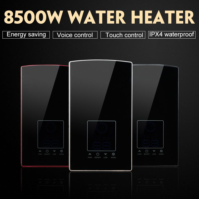 8500W Voice Control Bathroom Electric Water Heater Tankless Induction Instantaneous Hot Water Shower For Home Hotel Dormitory