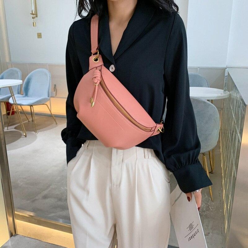 2020 Women Waist Packs Leather Fanny Letter Belt Bags New High Quality Shoulder Wild Messenger Fashion Chest Crossbody Bag Pouch