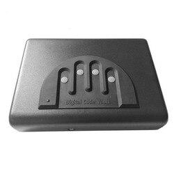 OS500C caja para pistola segura portátil contraseña Digital y cerradura de llave de repuesto 2 en 1 caja de seguridad objetos de valor caja de almacenamiento de joyas