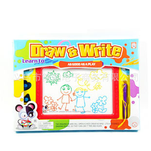 Children Drawing Board Magnetic Drawing Board Baby Toys 1-3 Years Old 2 CHILDREN'S Multicolor Large Painted Doodle Board