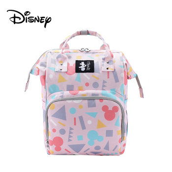 Disney Mickey USB Mommy Maternity Diaper Bags Large Capacity Baby Organizer Travel Baby Care Bag Fashion Mom Diaper Bag Backpack - BB0230