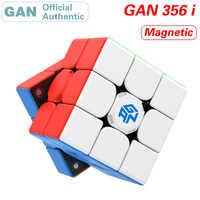 GAN 356 i 3x3x3 inteligentne magnetyczne magiczne kostki 3x3 356i magnesy kostka łamigłówka stacja APP w czasie rzeczywistym Puzzle zabawki dla dzieci