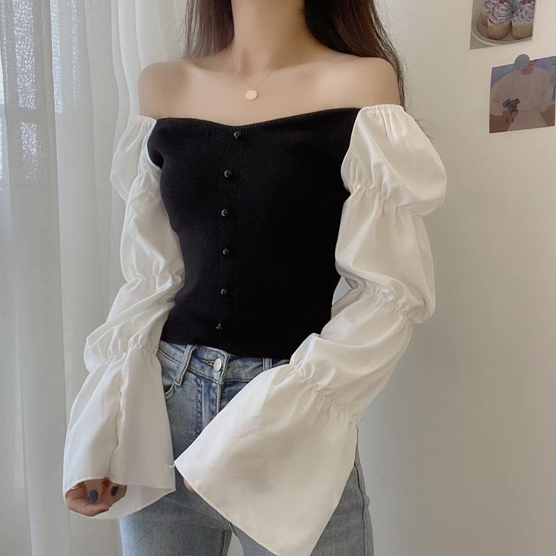Женская шифоновая рубашка с длинным рукавом осень 2020 НОВАЯ